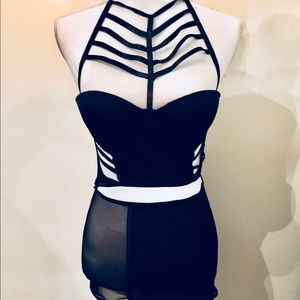 FRENCH AFFAIR New Cage Bustier Lingerie One Piece